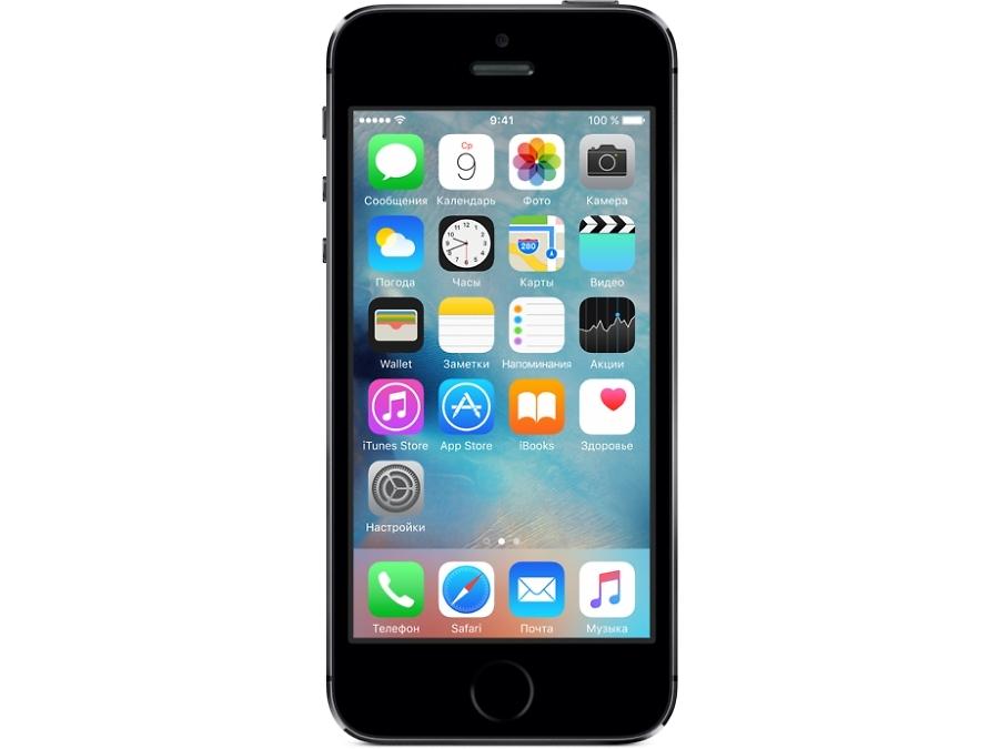 Смартфон Apple iPhone 5S 16GB Space Gray восстановленный (FF352RU/A)